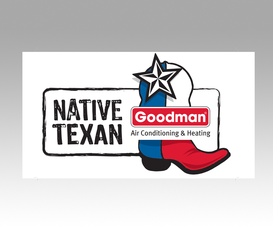 goodman logo. goodman logo - native texan decal