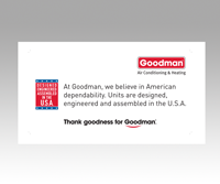goodman logo. goodman logo - usa proud decal 1